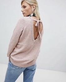 Vila Soft Knitted Jumper with V-Back