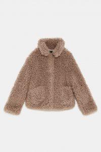 Zara Beige Sherling Coat