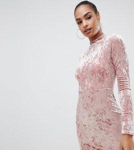 PrettyLittleThing Velvet Bodycon Dress