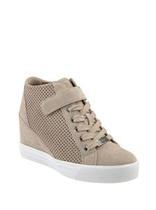 Guess Wedge Sneaker Natural Suede