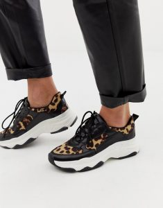 Public Desire Leopard Print Chunky Trainers
