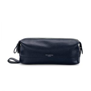 Aspinal Leather Wash Bag